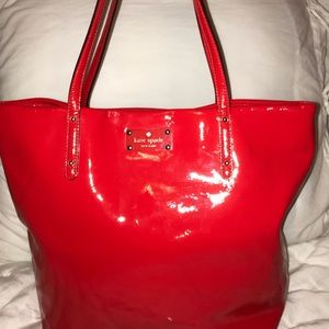 Kate Spade ♠️ Ted Patent Leather Tote Purse